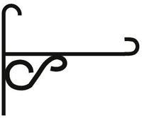 Кронштейн кованый Готика 18 см