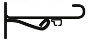 Кронштейн кованый Камелот 15 см